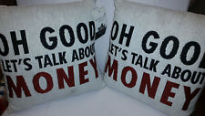 PAST TIMES DOWNTON ABBEY: LET'S TALK ABOUT MONEY CUSHION BNWT