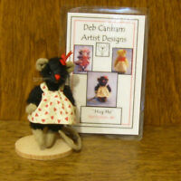 """DEB CANHAM Artist Designs HUG ME, Hot Editions Coll. 2.75""""  LE  mohair mouse"""