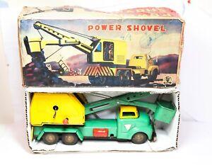 SSS Toys Japan Power Shovel In Its Original Box - Excellent Vintage Original