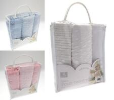 3 Piece Baby Moses Basket Set Bubble Cellular Blanket Sheet Kids Baby Gift