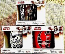 STAR WARS Mug Set of 3: Leia, Elite Soldier, Vader *NIB* ZAK Disney