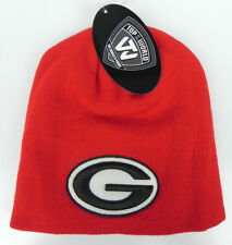 GEORGIA BULLDOGS RED NCAA BEANIE TOP OF THE WORLD SIMPLE KNIT CAP HAT NWT!