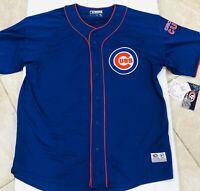 Chicago Cubs Men's Button Up Jersey Genuine Merchandise Size XL Lightweight NWT