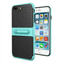 Carbon fiber 2 in1 Shockproof Holder Case Cover For Apple iPhone 5S 6 6S 7 7Plus
