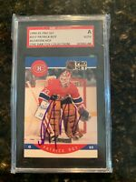 1990-91 Pro Set Patrick Roy Montreal Canadiens #157 Auto Signed SGC authentic