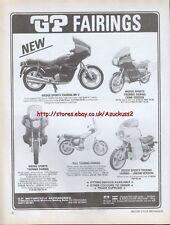 GP Fairings Motorcycle 1980 Magazine Advert #1387