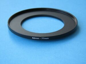 52mm to 77mm Step Up Step-Up Ring Camera Lens Filter Adapter Ring 52mm-77mm