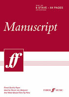 64-page A4 Manuscript Pad Guitar Tab WRITE YOUR OWN SONGS TUNES FABER MUSIC BOOK