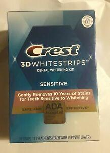 CREST 3D WHITESTRIPS SENSITIVE 28 STRIPS 14 TREATMENTS EXP 02/2022