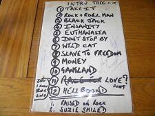 More details for tygers of pan tang - original set list 1981 fully signed john skyes nwobhm