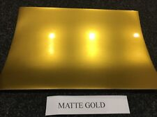 A4 SELF ADHESIVE INKJET PRINTABLE MATTE GOLD EFFECT VINYL STICKER (5 SHEETS)