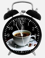 """Cup of Coffee Alarm Desk Clock 3.75"""" Home or Office Decor Y57 Nice Gift"""
