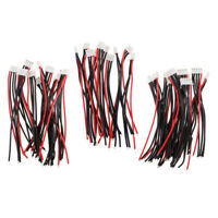 """30pcs 100mm/ 4"""" 2S 3S 4S Lipo Battery Balance Charger Cable Lead JST XH Plug"""