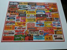White Mountain Jigsaw Puzzle  1000 pieces CANDY WRAPPERS 2011 VNC 60's - 80's