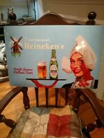 Heineken Retro Waitress Tin Wall Tacker Beer Sign. 16 X 24. New
