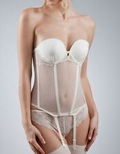 IMPLICITE CRYSTAL CORSET BUSTIER JARRETELLES FR 95 C- EU 80 C-UK 36 C