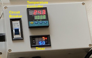 Plug Play Powder Coating Paint Temperature Controller + Timer Gas Oven Kiln