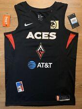 A'Ja Wilson Mens Size M Las Vegas Aces Wnba Black Nike Swingman Jersey Cambage
