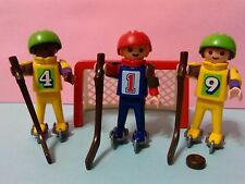 PLAYMOBIL ANTIGUA REF 3685 NIÑOS JUGANDO A HOCKEY CHILD NIÑO INVIERNO CHILDREN