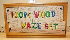 Wooden Maze 100 Piece Set