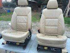 BMW E60 E61 LEATHER SEATS SEAT 550I 530I 535I SET TAN COLOR    N
