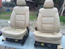 BMW E60 E61 LEATHER SEATS SEAT 550I 530I 535I SET TAN COLOR    N