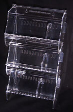 Lot of THREE PETITE No Dowel Acrylic Ribbon Roll Control Holders for Crafters !
