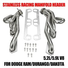 Stainless Racing Manifold Header For Dodge Ram/Durango/Dakota 5.2L/5.9L V8