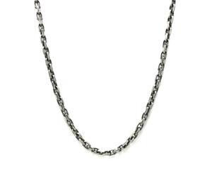 Herren Oxidiert Sterlingsilber Anker Stil Grob Halskette - 51CM