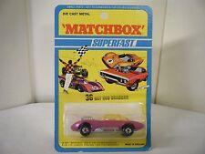 "Matchbox No: 36 ""Hot Rod Draguar"" - Pink (RARE U.S. BLISTER PACK/Original 1971)"