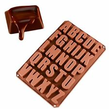 Silicone Large Alphabet Ice Chocolate Letter Mould Stencil Cake Jelly Cupcake