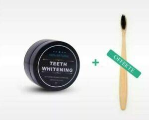 Blanchiment Dentaire Poudre Charbon Naturel (30g) (Brosse À Dent Offert)