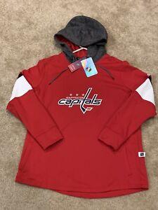 Womens XL Washington Capitals Adidas Long Sleeve Platinum Crewdie Hoodie NWT $90
