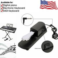 Piano Sustain Foot Pedal For YAMAHA Electric Keyboard w/ Polarity Switch US