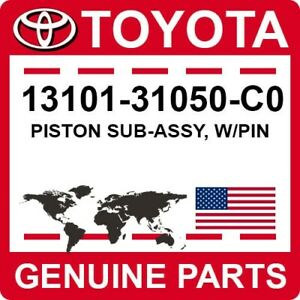 13101-31050-C0 Toyota OEM Genuine PISTON SUB-ASSY, W/PIN