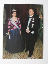 Königin Silvia König Carl Gustaf Königshaus Schweden Original Postkarte
