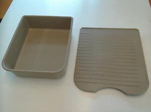 Beige washing up bowl & draining board for Elddis Affinity caravan kitchen sink