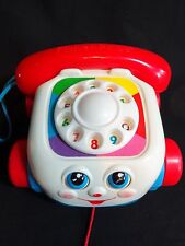 Fisher Price CHATTER PHONE 1993 Pull Along Toy Telephone Rolling Moving Eyes