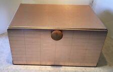 Vintage Mid-Century MIRRO Aluminum Large Bread Box Shelf Waffle Texture
