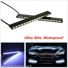 2x Ultra-Slim Car Truck DRL LED Fog Signal Light Daytime Running Lamp Waterproof