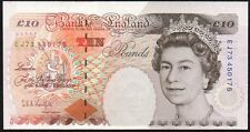 B369 KENTFIELD £10 ERROR BANKNOTE * MISGUILLOTINED -  DESIGN MISSPLACED * gVF *