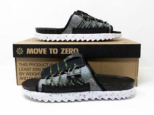 Nike Asuna Crater Slide Sandals Black Iron Grey White DJ4629-002 Men's Size 13