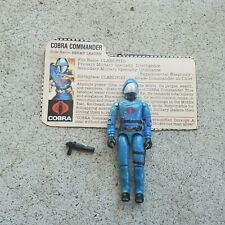 Vintage GI Joe Figure 1983 Cobra Commander complete with file card