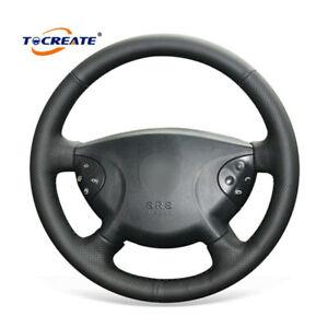DIY Leather Steering Wheel Cover for Mercedes-Benz W210 E240 E63 E320 E280 #0202