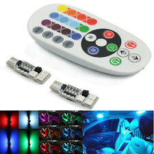 Auto Car Interior T10 RGB 6 LED 5050 SMD Lights Lamp Wireless Remote Controlled