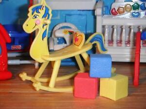 Rocking Horse Nursery Toy Blocks fits Fisher Price Loving Family Dollhouse Baby