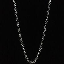 Silver Belcher Men Women Necklace Chain 3mm 50cm Long