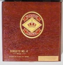 "DIAMOND CROWN WOOD CIGAR BOX ROBUSTO NO. 4 BRAND 6 1/2"" X 8"" X 2"""