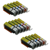 15x PGI 550 CLI 551 Ink Cartridges Compatible For Canon PIXMA MG5450 MG5550