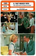 FICHE CINEMA : IL FAUT MARIER PAPA - Minnelli 1963 Courtship of Eddie's Father
